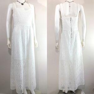 💎Betsey Johnson • Crochet Boho Wedding Maxi Dress